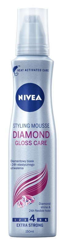 Nivea Pianka do włosów Diamond Gloss Care 150ml