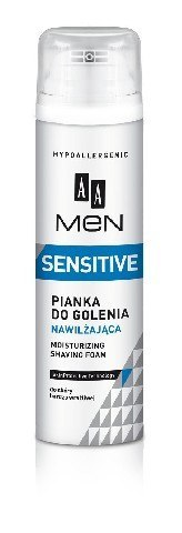 AA Men Sensitive Pianka do golenia nawilżająca 250ml