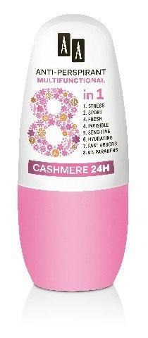 AA Anti-Perspirant Multifunctional 8in1 Dezodorant roll-on Cahmere 24H 50ml