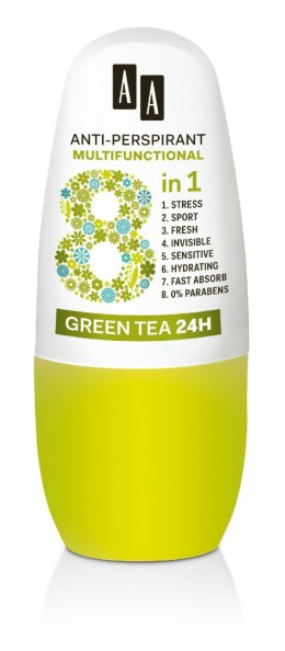 AA Anti-Perspirant Multifunctional 8in1 Dezodorant roll-on Green Tea 24H 50ml