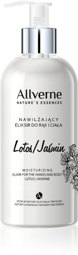 Allvernum Nature's Essences Eliksir do rąk i ciała Lotos & Jaśmin 300ml