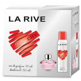 La Rive La Rive for Woman Love City Zestaw/edp90ml+deo150ml/