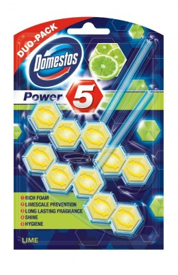Domestos Lime DUO Kostka WC Power 5 koszyk 2 x 55g