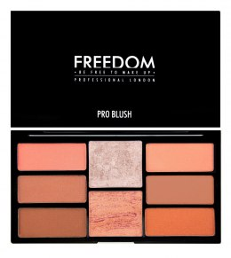 FREEDOM PRO BLUSH PALETTE PEACH AND BAKED - Zestaw do konturowania