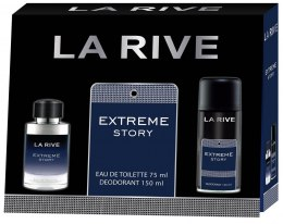 La Rive La Rive for Men Extreme Story Zestaw/edt75ml+deo150ml/