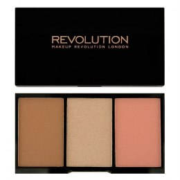 Makeup Revolution Iconic Blush Bronze & Brighten Zestaw do konturowania Golden Hot 11g