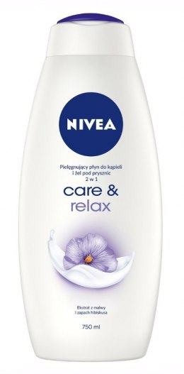 Nivea Bath Care Płyn do kąpieli i żel pod prysznic 2w1 Care & Relax 750ml