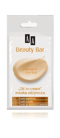 "AA Beauty Bar Maska odżywcza ""Oil in Cream"" saszetka-8ml"