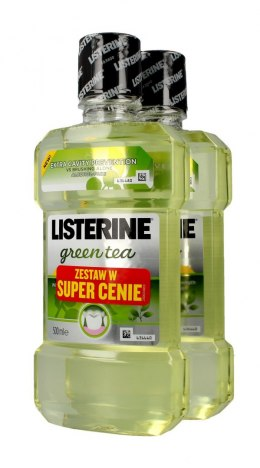 Listerine Green Tea Płyn do płukania jamy ustnej DUO 500ml x 2