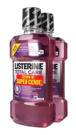 Listerine Total Care Płyn do płukania jamy ustnej DUO 500ml x 2
