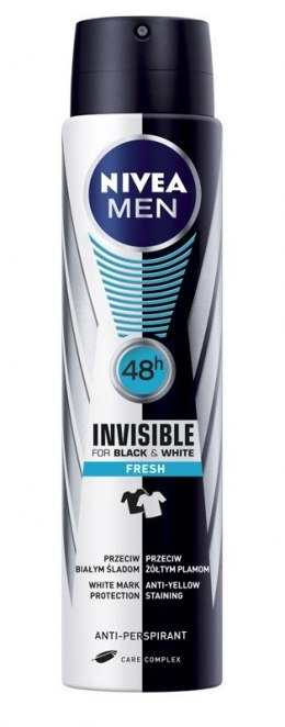 Nivea Dezodorant INVISIBLE FRESH spray męski 250ml