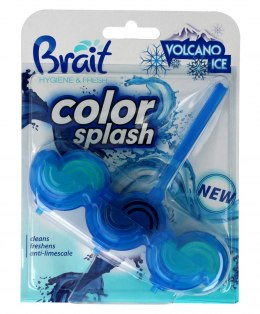 Brait Kostka toaletowa 2-fazowa Color Splash do WC Volcano Ice 45g