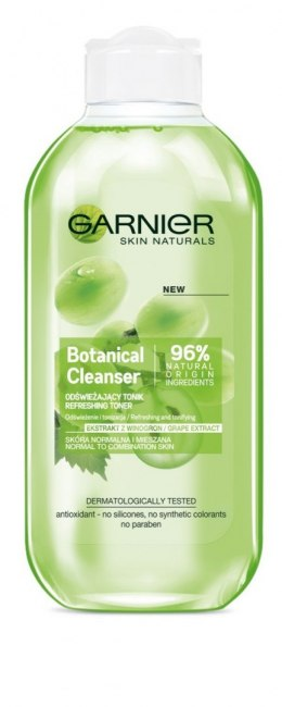 Garnier Skin Naturals Botanical Grape Extract Tonik odświeżający do demakijażu 200ml