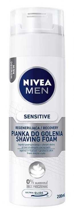 Nivea Men Pianka do golenia Sensitive Recovery 200ml