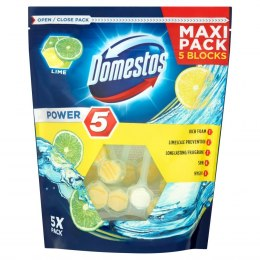 DOMESTOS KOSTKA POWER5 LIME 5X55g.