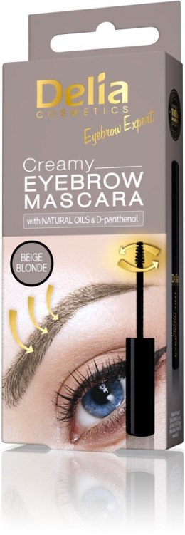 Delia Eyebrow Expert Kremowa mascara do brwi Beige Blonde 4ml