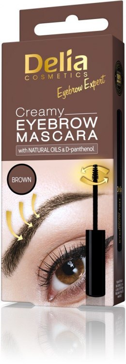 Delia Eyebrow Expert Kremowa mascara do brwi Brown 4ml