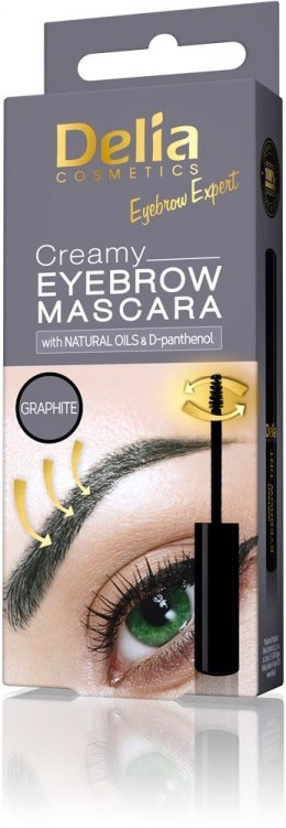 Delia Eyebrow Expert Kremowa mascara do brwi Graphite 4ml