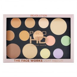 Makeup Revolution Pro HD Palette The Face Works Zestaw do makijażu twarzy light/medium