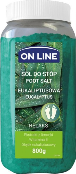 On Line Sól do stóp eukaliptusowa - Relaks 800g