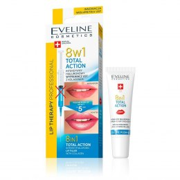 Eveline Lip Therapy Total Action Hialuronowy wypełniacz ust 8w1 12ml