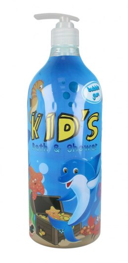 Hegron Kid's Płyn do kąpieli i żel pod prysznic 2w1 Bubble Gum 1000ml