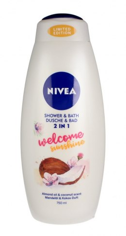 Nivea Bath Care Płyn do kąpieli i żel pod prysznic 2w1 Welcome Sunshine 750ml