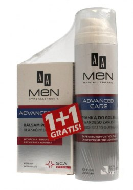 AA Men Adventure Care DUO (Balsam po goleniu do skóry dojrzałej 100ml+Pianka do twardego zarostu 250ml)