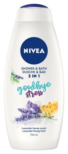 Nivea Bath Care Płyn do kąpieli i żel pod prysznic 2w1 Goodbye Stress 750ml