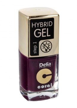 Delia Cosmetics Coral Hybrid Gel Emalia do paznokci nr 48 11ml