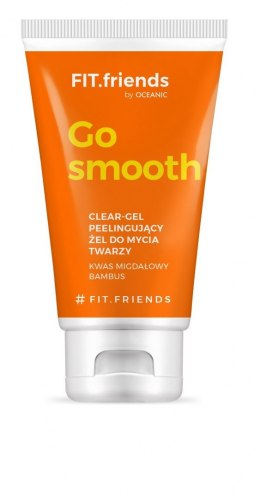 FIT.friends Go Smooth Peelingujący Żel do mycia twarzy Clear-Gel 150ml