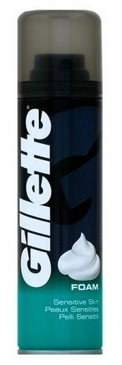 GILLETTE PIANKA 200ml SENSITIVE (ZIELONA) FOAM