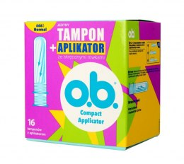 O.B.ProComfort Compact Applicator Normal Tampony z aplikatorem 1op.-16szt