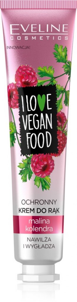Eveline I Love Vegan Food Krem ochronny do rąk Malina i Kolendra 50ml
