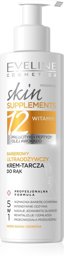 Eveline Skin Supplements Barierowy Ultraodżywczy Krem-tarcza do rąk 5w1 200ml