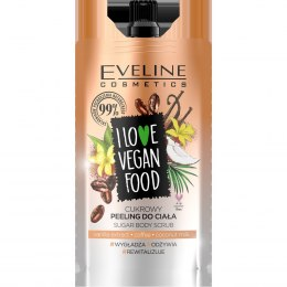 Eveline I Love Vegan Food Cukrowy Peeling do ciała Kawa 75ml