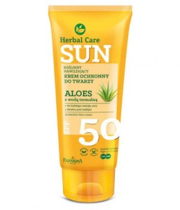 Farmona Herbal Care Sun Krem ochronny SPF50 Aloes z wodą termalną 50ml