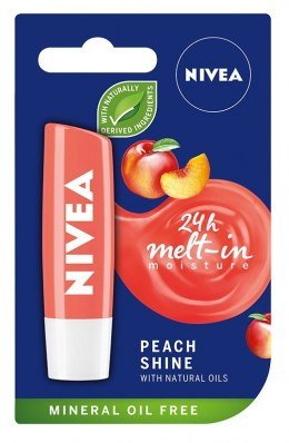 Nivea Lip Care Pomadka ochronna PEACH SHINE 4.8g