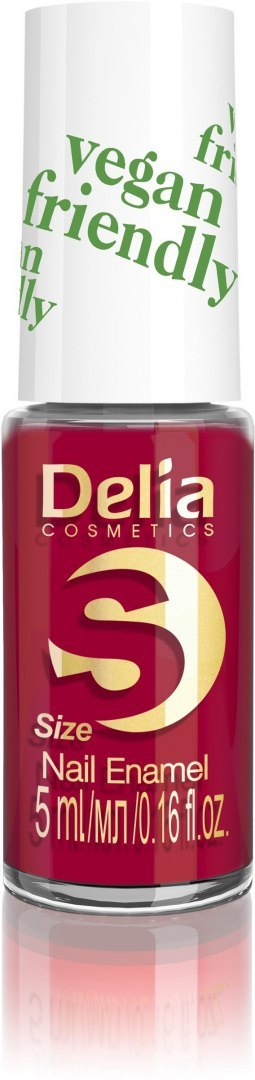 Delia Cosmetics Vegan Friendly Emalia do paznokci Size S nr 213 Red Velvet 5ml