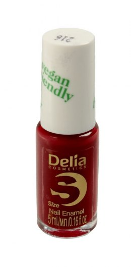Delia Cosmetics Vegan Friendly Emalia do paznokci Size S nr 216 Cherry Bomb 5ml