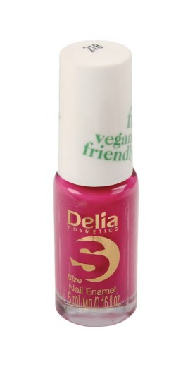 Delia Cosmetics Vegan Friendly Emalia do paznokci Size S nr 218 Pink Promise 5ml