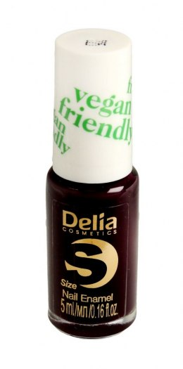 Delia Cosmetics Vegan Friendly Emalia do paznokci Size S nr 225 Black Berry 5ml