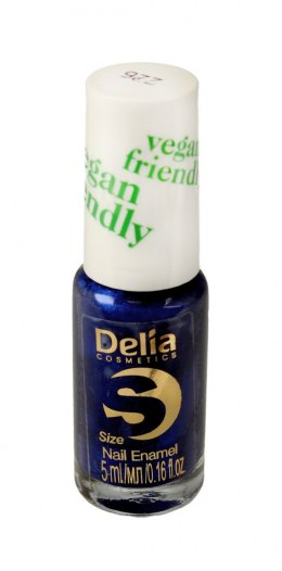 Delia Cosmetics Vegan Friendly Emalia do paznokci Size S nr 226 Monaco Blue 5ml