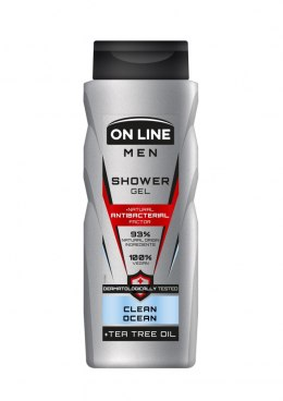 On Line Men Natural Antibacterial Factor Żel pod prysznic Clean Ocean 400ml