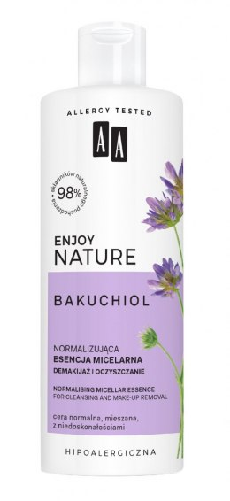 AA Enjoy Nature Bakuchiol Esencja micelarna normalizująca do demakijażu 400ml
