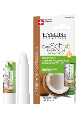 Eveline Lip Therapy Professional Balsam ochronny do ust Extra Soft Bio - Kokos 4g