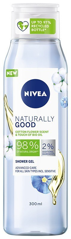NIVEA*SHOWER Żel p/p 300ml NATURALLY GOOD Bawełna&
