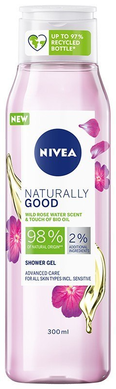 NIVEA*SHOWER Żel p/p 300ml NATURALLY GOOD Różany&