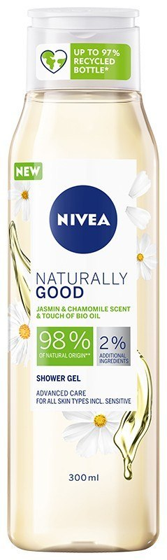 NIVEA*SHOWER Żel p/p 300ml NATURALLY GOOD Rumiane&